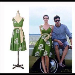 Anthropologie River of Grass Green Dress
